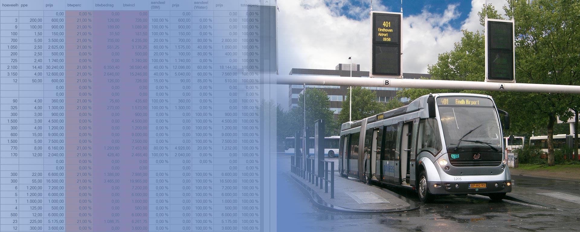 Kostenramingen Eindhoven HOV3-tracé